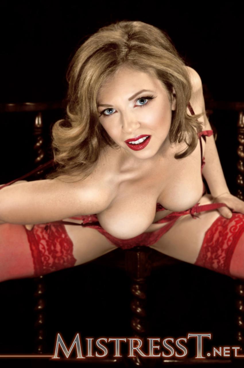 Mistress T Red Garter