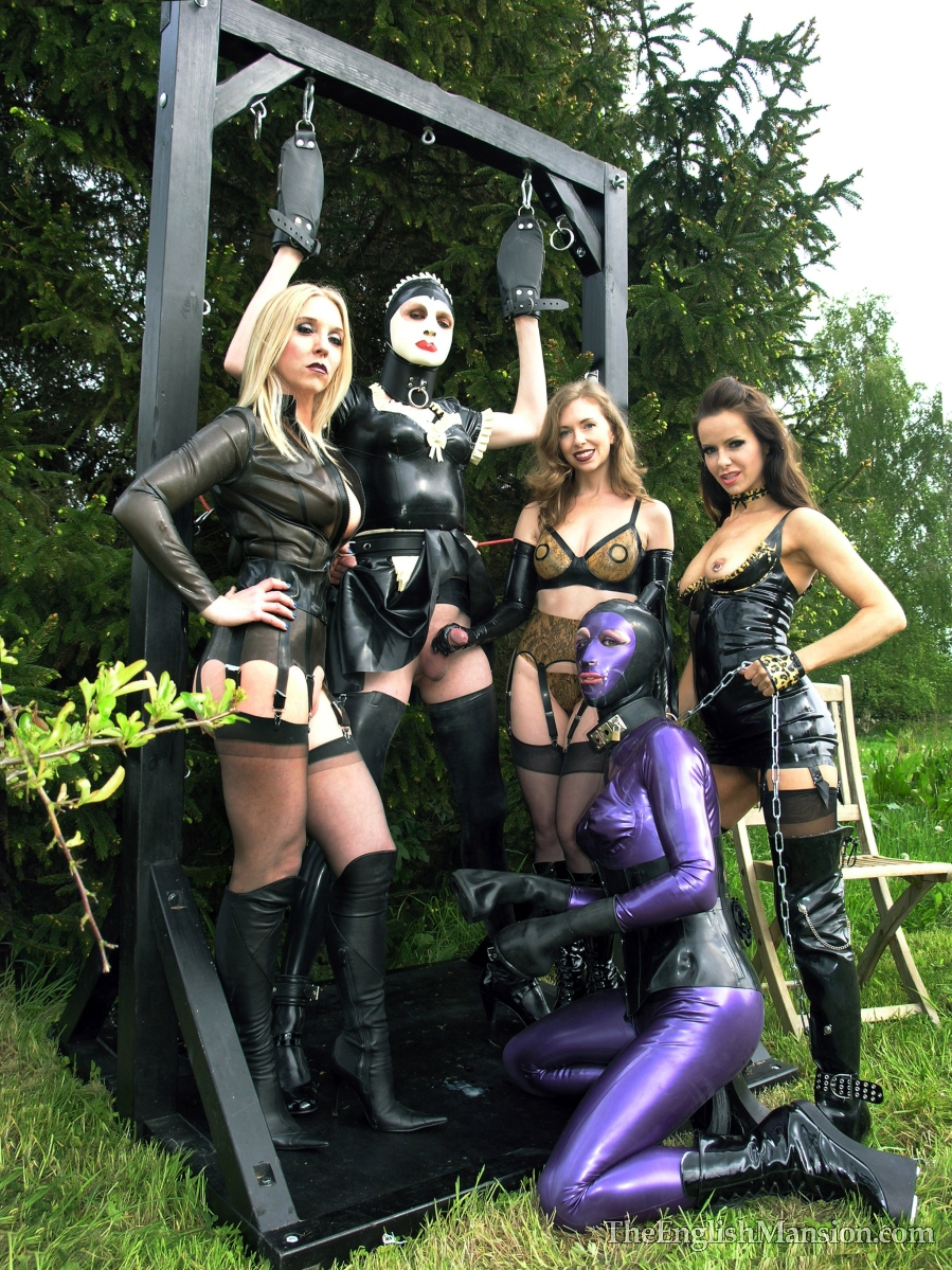 Sidonia Von Bork of the The English Mansion, sub Sophie, Natalie the cross dressed pony, Mistress T & Amica Bentley.