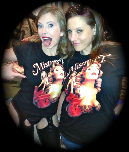 Me & Meggerz, one of the lucky few to get a limited edition Mistress T-shirt from AEE in Vegas.