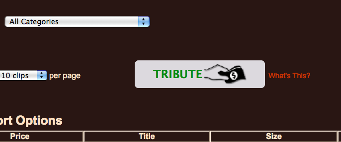 Look for the tribute button on my clips store!