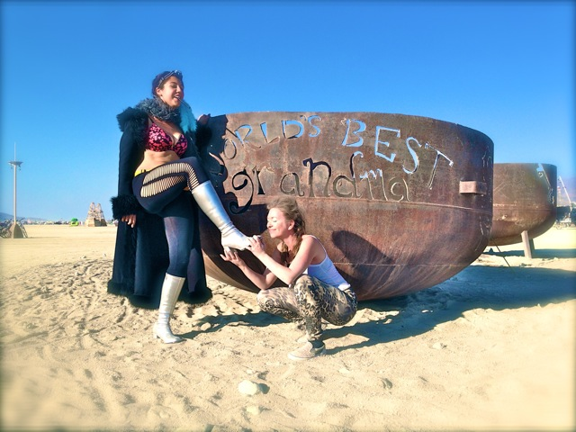 Ceara Lynch & Mistress T at Burning Man 2013.