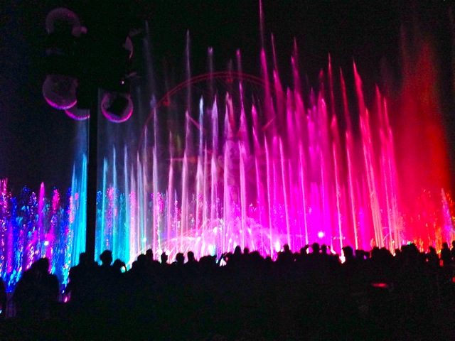 World of Color show at Disney. SO beautiful. I loved it.