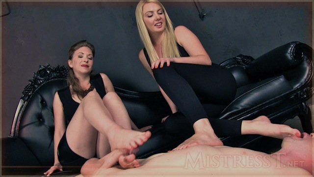 Poor Slave Wade....so hard to hold off cumming with Lexi's & my feet taunting him...