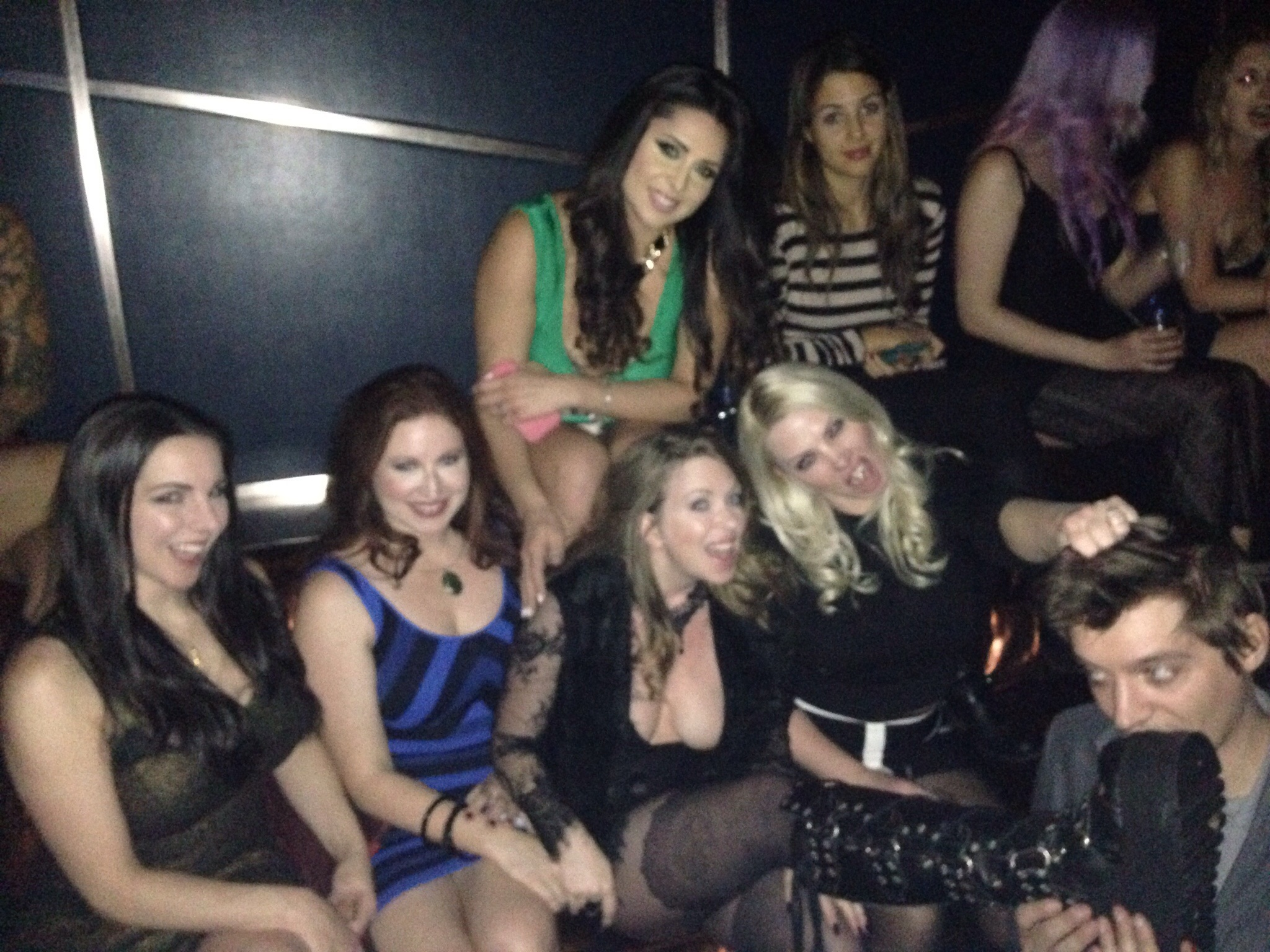 We has some crazy nights too...Alexandra Snow, Shauna Ryanne, Jasmine Mendez, Ceara Lynch, Lexi Sindel, me & Nate Bitch.