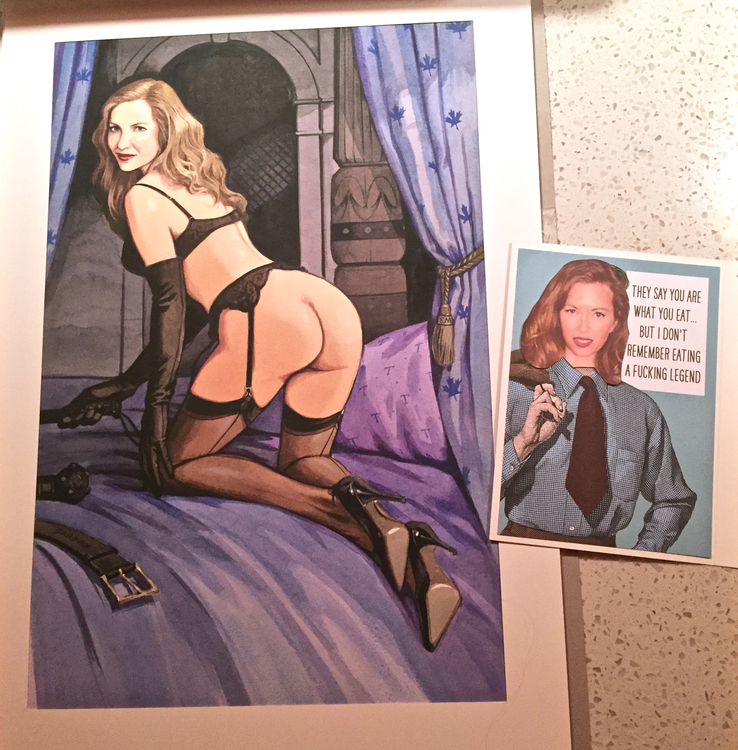 A pic of the portrait by Sardax & the home-made card by Sidonia Von Bork of The English Mansion