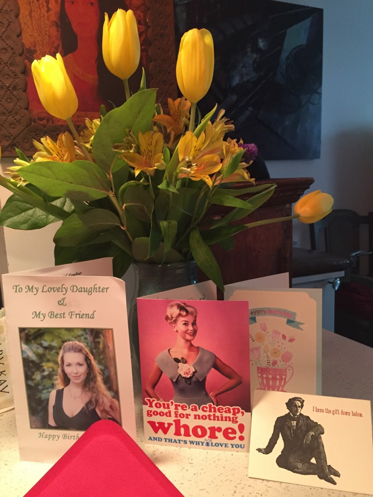 Cards from family, work peers/friends, films slaves & fans...all together:-)