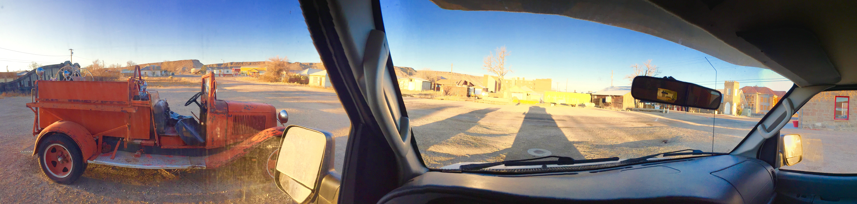 Some old mining town between Vegas & Portland.