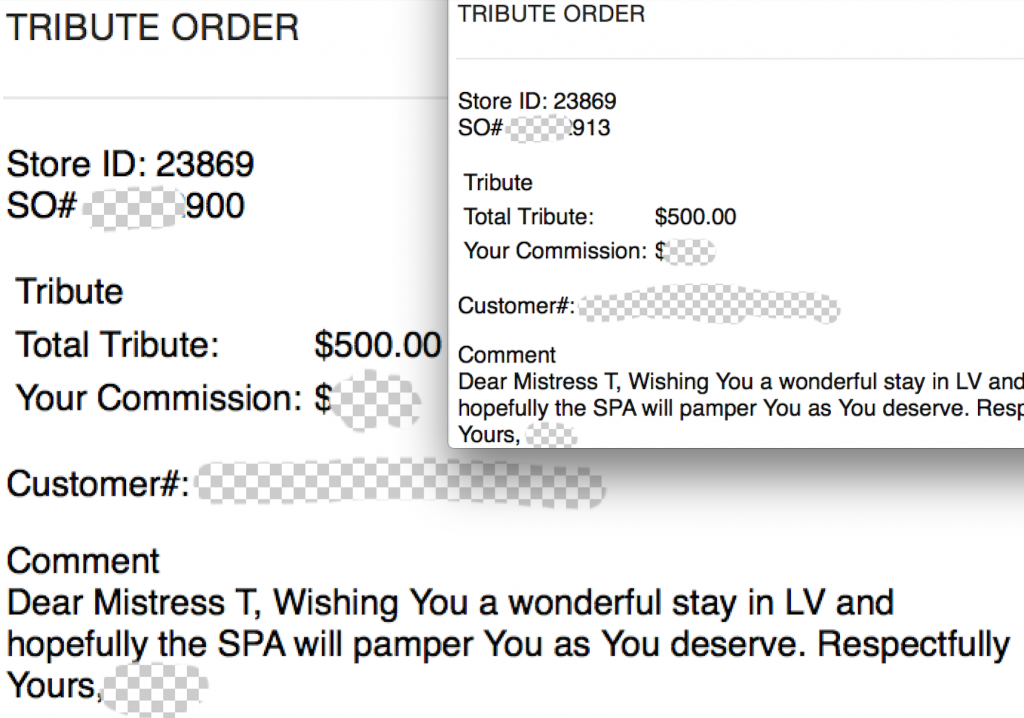 2 tributes of $500 for $1000 at the spa for Meg & I. SO nice!