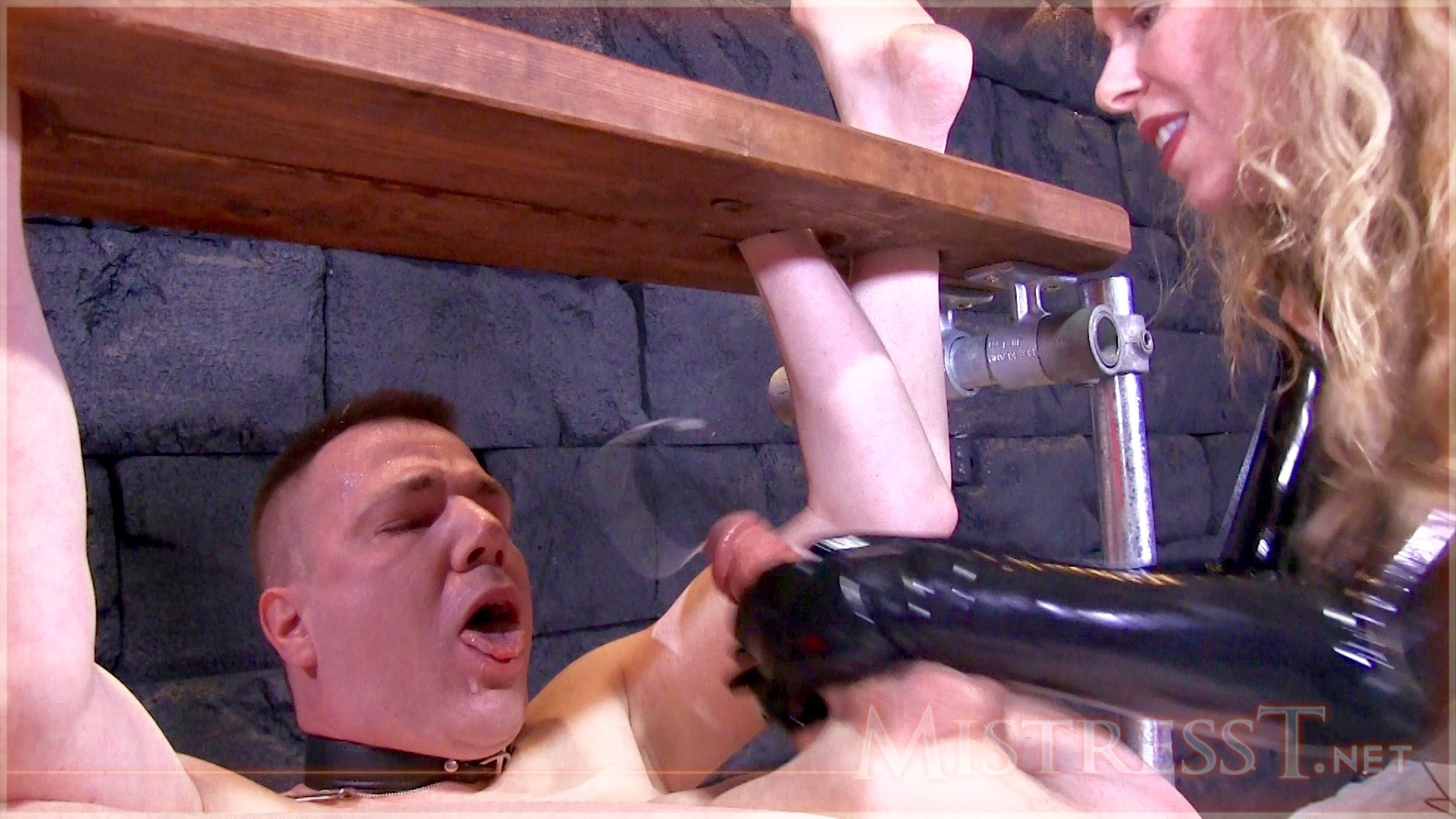 "Wade bound in one of his contraptions...from a recent vid of mine: ""Extreme Humiliating Bound Milking"""