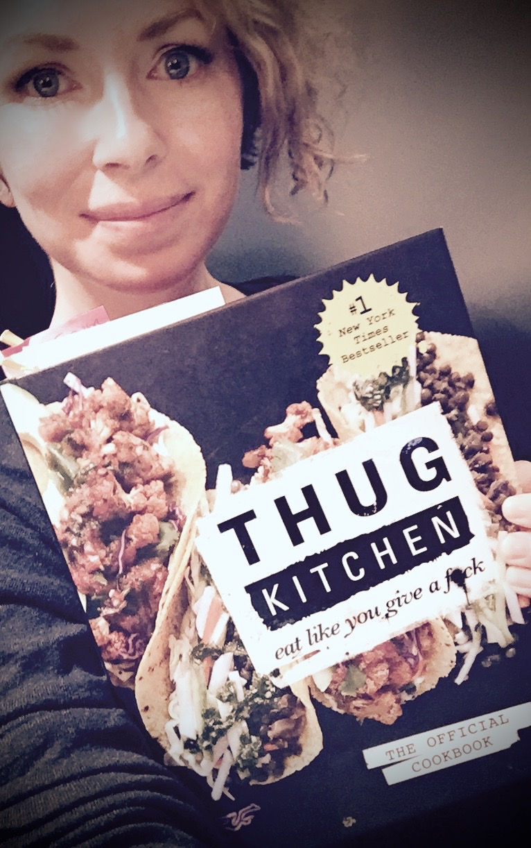 Eat like you give a fuck. Best fucking cook book ever. Fuck yeah. Lots of curse words:-)